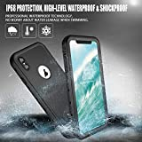 SpringRay iPhone Xs Max Waterproof Case IP68 Certified Shockproof Dustproof Snowproof Full Body Rugged Protective Cover Built-in Screen Protector iPhone Xs Max 2018 Released 6.5 inch