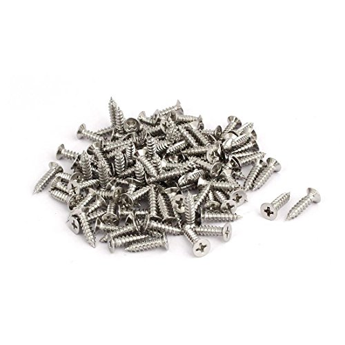 - M4x16mm Stainless Steel Phillips Countersunk Flat Head Self Tapping Screw 100pcs