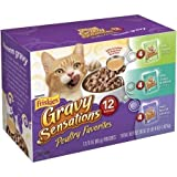 Friskies Wet Cat Food Variety Pack of 12 Pouches (Gravy Sensations Poultry Favorites 3 oz Pouches) Review