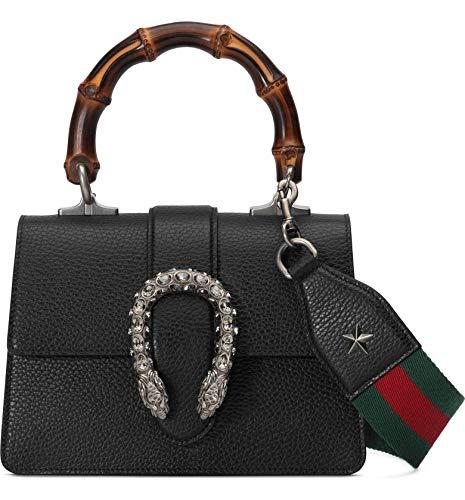 Gucci Dionysus Black Mini Leather Satchel Strap Web Italy New Bag Handbag Star