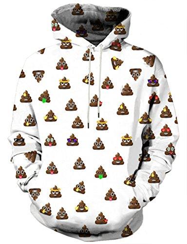 y Print Hoodie Digital Printing Sweatshirts Sweater Pullover, Large ()