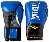 Best Boxing Gloves 16ozs - Everlast Elite Pro Style Training Gloves, Blue, 16 Review