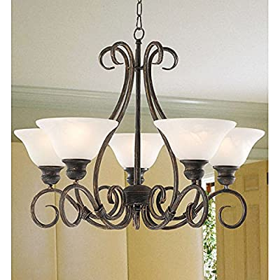 Jojospring Iron 5-light Hanging Chandelier
