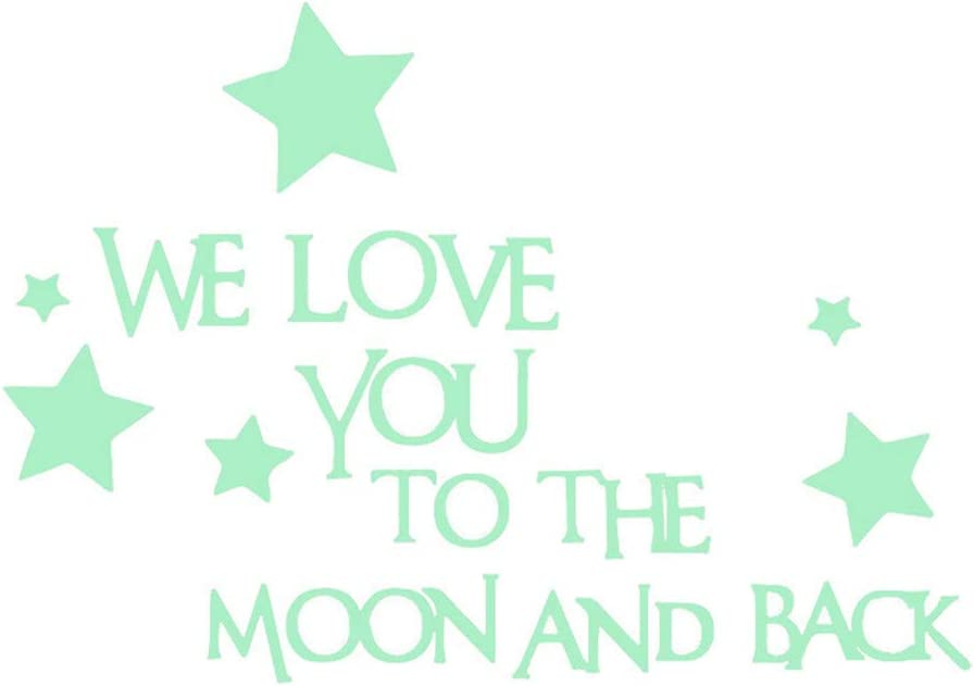 Amazon.com: AIUSD We Love You to The Moon and Back 3D Star ...