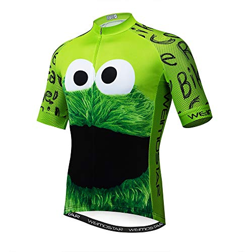 Mens Cycling Jersey Shirt,2019 Short Sleeve Bike Jersey Riding Tops Outdoor MTB Cycling Clothing Eye Green XXXL (Best Mens Road Bikes 2019)