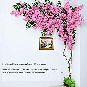 Artificial Cherry Blossom Tree Wall Pipe Interior Decoration Background Cherry Blossom Cane Fake Flowers Fake Vine Vines Make Sc,Type C 4
