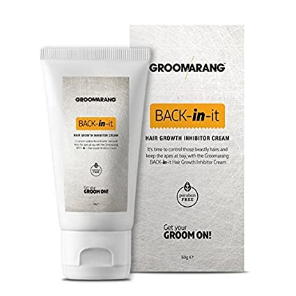 Crema Groomarang Back In It para inhibir el crecimiento de vello corporal y facial, alternativa