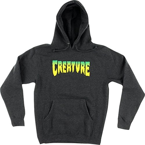 Creature Skateboards Logo Charcoal Heather Hooded Sweatshirt - X-Large