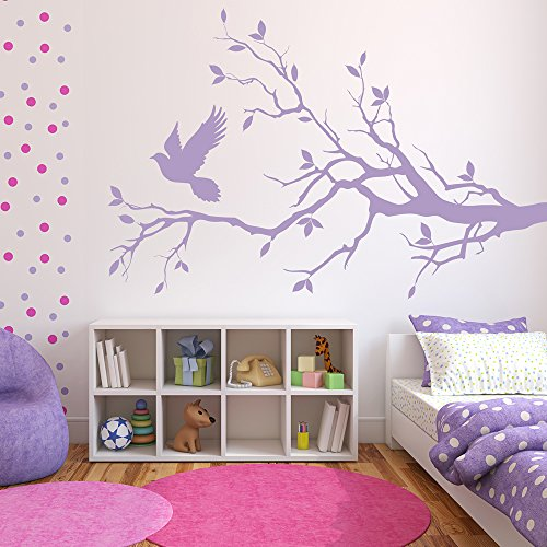 l Sticker Birds Feather Wall Decal Bedroom Living Room Decor available in 5 Sizes and 25 colors Large Turquoise (Turquoise Branch)