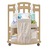 "Biubee Baby Diaper Nursery Organizer-17.3""x 20.5""x 7.1"" Changing Table Hanging Organizer Diaper Caddy Storage for Nursery Essentials(light brown)"