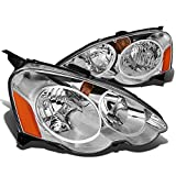 2002 rsx headlight assembly - DNA Motoring HL-OH-ARSX-CH-AM Headlight Assembly (Driver & Passenger Side)