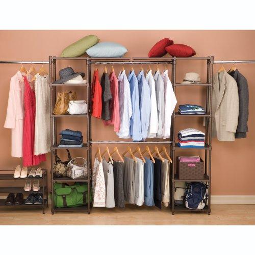 Seville classics expandable closet organizer str05813