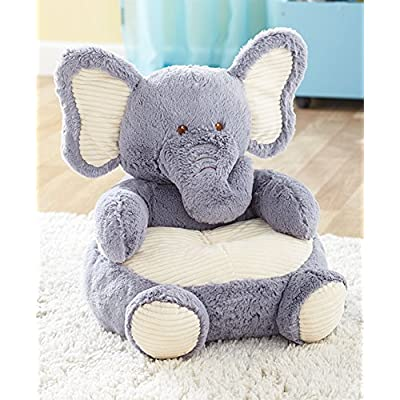 The Lakeside Collection Kids' Plush Animal Chairs - Elephant: Toys & Games