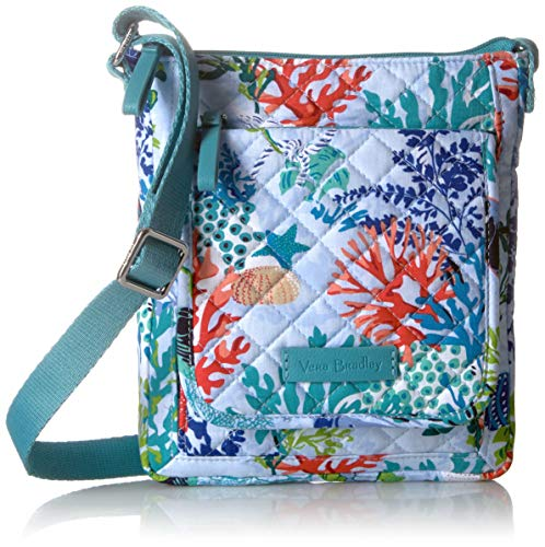 - Vera Bradley Iconic RFID Mini Hipster, Signature Cotton, Shore Thing
