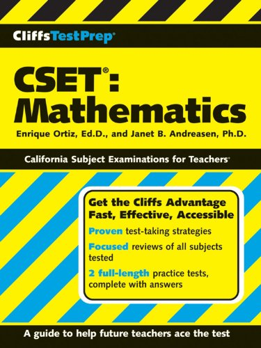 CliffsTestPrep CSET: Mathematics
