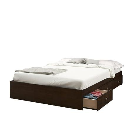 Amazon.com: Nexera 4654 Pocono 54-Inch Storage Bed Frame, Full ...