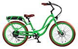"Pedego Interceptor 26"" Step Thru Lime Green with Brown Balloon Package 48V 10Ah"