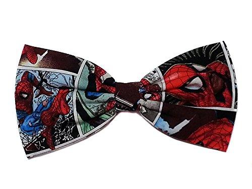 Super Heroes Hair Bows-sci Fi, Horror, Marvel (Spiderman Comics, Alligator Clip) -
