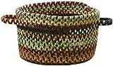 Capel Rugs Braided Basket, Cambridge Wineberry, 16 x 16 x 9