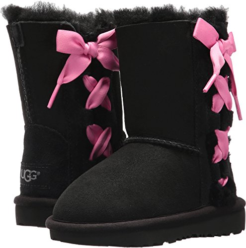 UGG Girls T Pala Pull-on Boot, Black, 6
