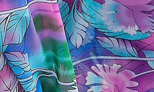 Mousseline Pendule Grand Jupe Impression Violet Plage Fleurs ZhuiKunA Boho Maxi Femme Plisse 6qgxwav78