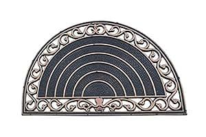 A1 Home Collections a1hc primera impresión de la mitad Ronda Grill frontera 18in. x 30en. 100% alfombrilla de goma interior/exterior con acabado en bronce