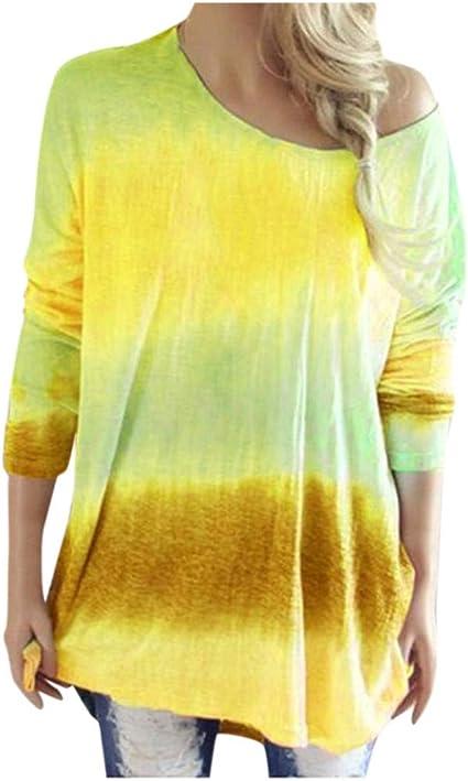 cureture - Camiseta de Manga Larga para Mujer, Estilo Hippie ...