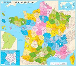 Districts Of France Map.France Counties And Districts 2016 Amazon Co Uk Ign 9782758536727
