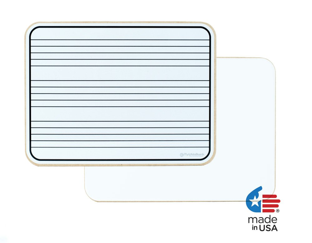 OptiMA 9'' x 12'' Music Staff Dry Erase Lap Boards Double Sided (15 Pack).