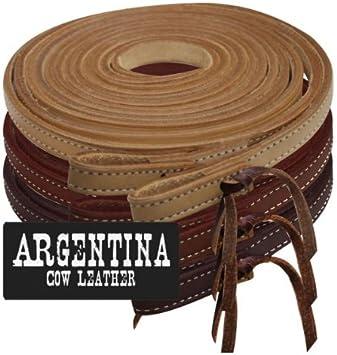 Showman 8ft Argentina Cowhide Leather Split Reins