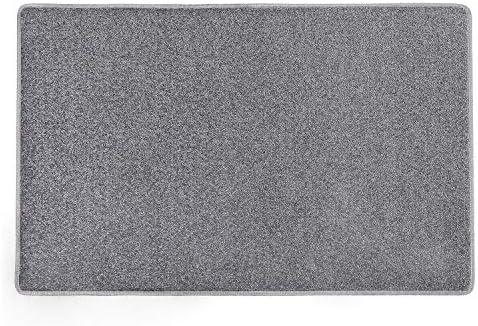 PURE ERA Carpet Stair Tread Landing Mat Tape Free Self Adhesive Non Slip Skid Resistant Indoor Doormat Area Rug Floor Mat for Kitchen Bathroom Workstations Washable Dark Grey 2 X 3