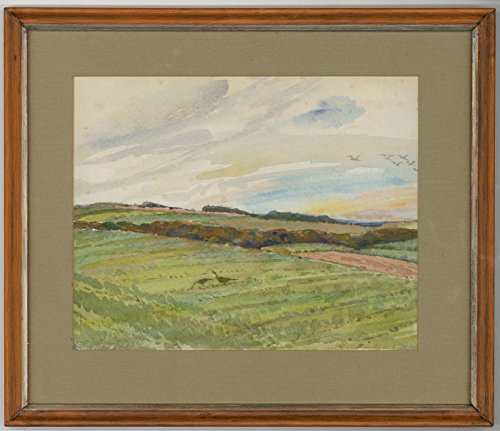 Stevenson Signed - Sulis Fine Art P. Stevenson - Signed Mid 20th Century Watercolour, Peasants in a Landscape