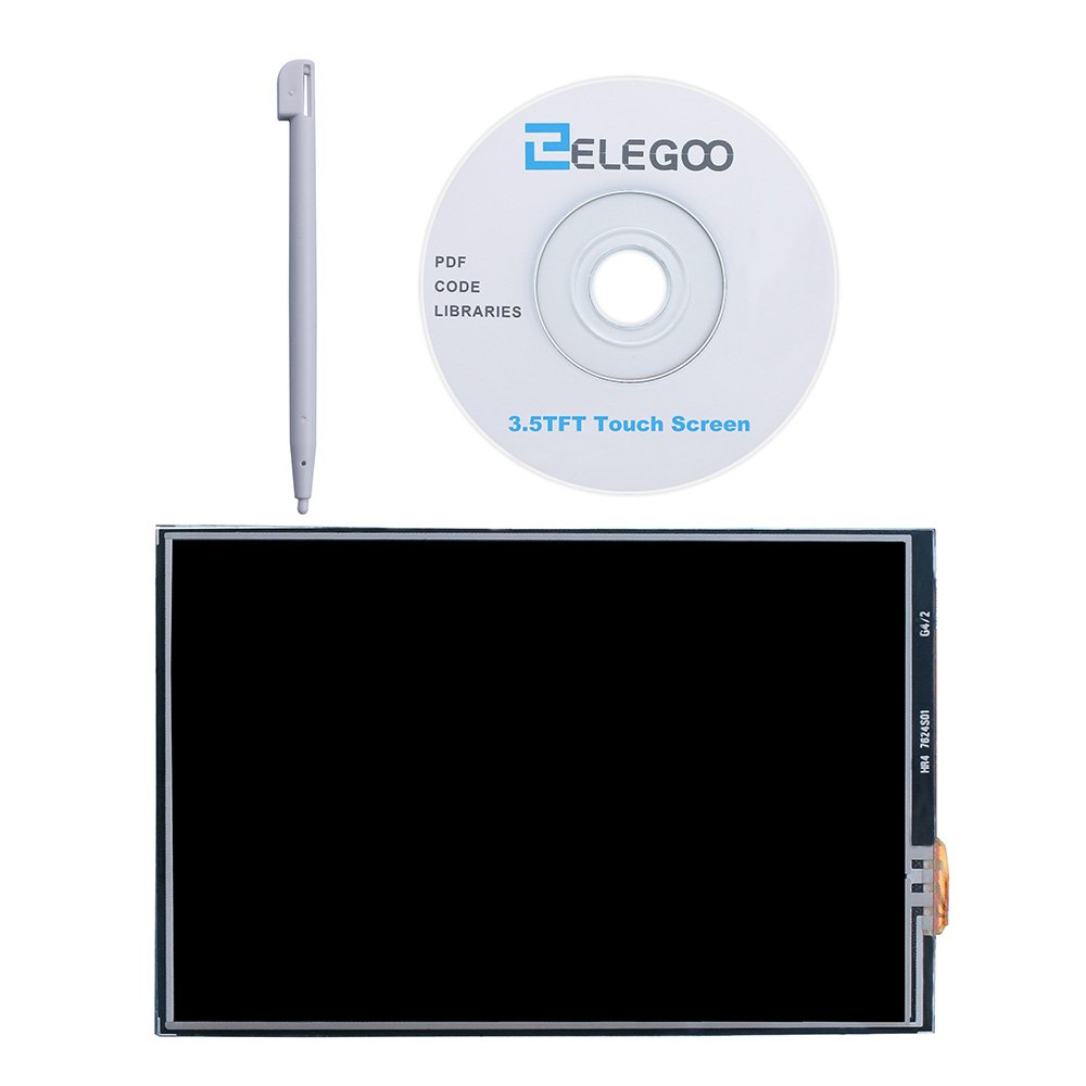 ELEGOO 3.5 Inch TFT LCD 480x320 Screen For Raspberry Pi 3 2 3.5 Inch 480x320 TFT Touch Screen Monitor for Raspberry Pi Model B B A Module SPI Interface with Touch Pen SC06 A