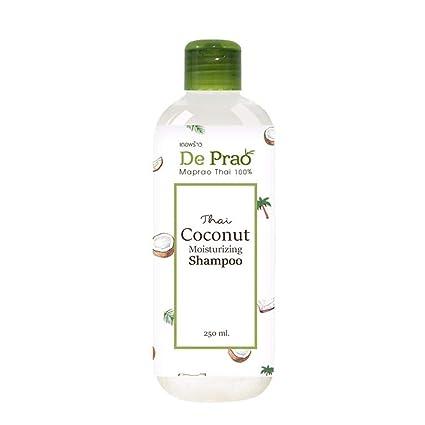 De Prao Coconut Shampoo Champú Hidratante Natural Sulfato y Paraban Alta Vitamina Libre Para Pérdida del