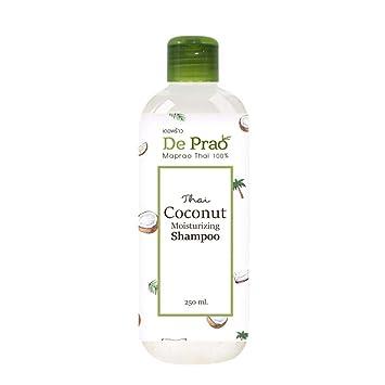 De Prao Coconut Shampoo Champú Hidratante Natural Sulfato y Paraban Alta Vitamina Libre Para Pérdida del Cabello Dolor en el Pelo Dañado - Mujeres Hombres ...