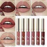 6 PCS Matte Liquid Lipstick set Waterproof Long