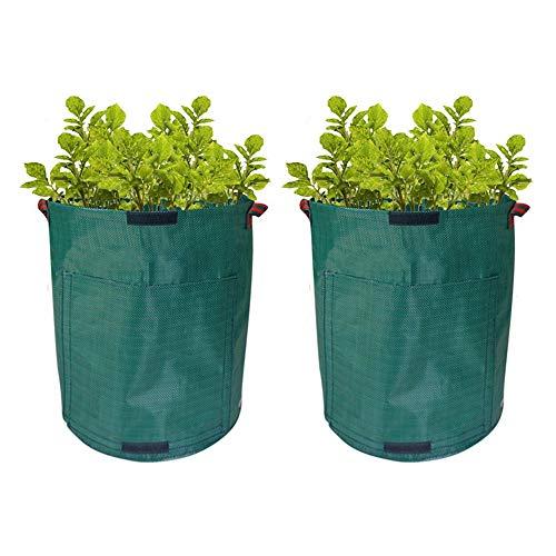 Conjunto de 2, Jardín Bolsa de Basura, Plantar Bolsas de Cultivo, Bolsas de Jardinería, Planta de Tina, Cultivar...