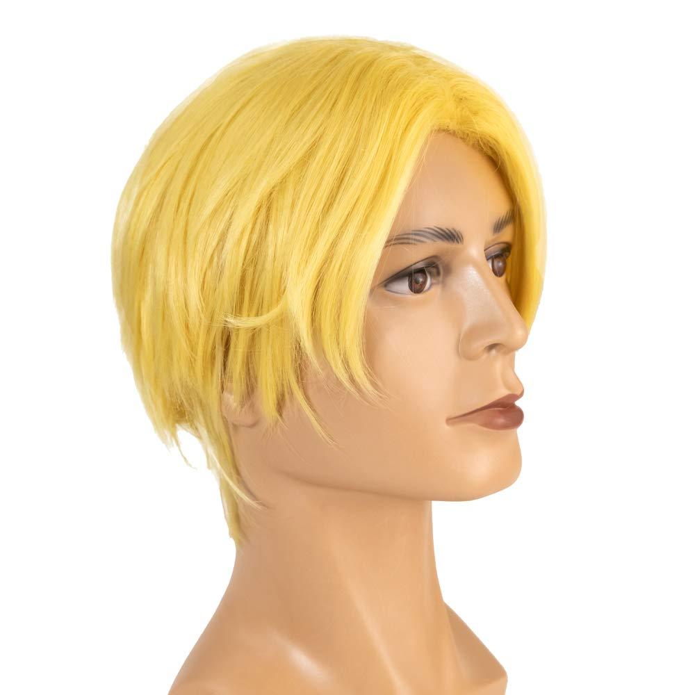 Coslive Fire Emblem Dimitri Wig Cosplay Three Houses Costume Halloween Men Golden Hair