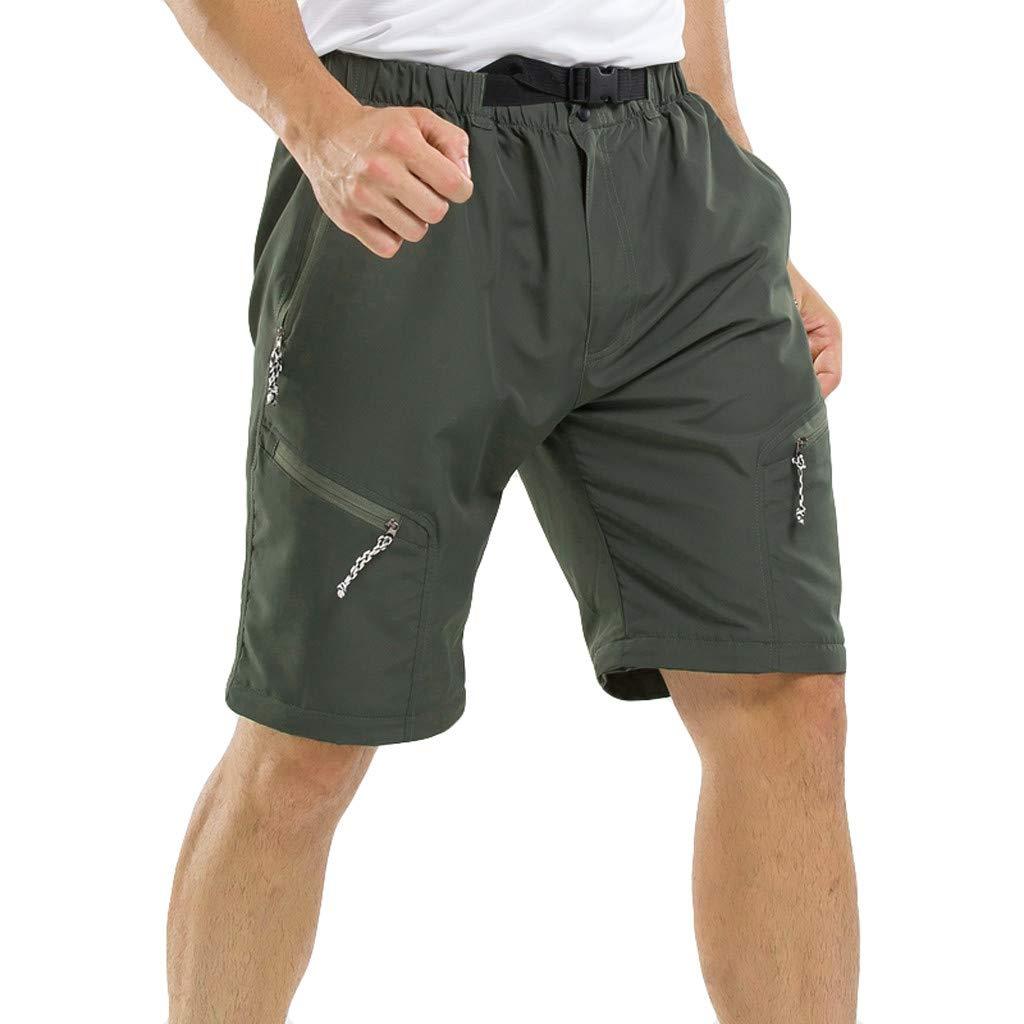 Automne Et Hiver Mode Cargo Hommes Sport Outdoor L/âche Jogging Coutures renforc/ées Endurance Pantalons Sport pour Hommes en Plein Air Pantalons Courts Shorts Amovibles /à S/éChage Rapide