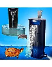 LONDAFISH Tyst sköldpaddsfilter vatten nedsänkbart filter för sköldpadda tank/akvarium 600 L/H filtrering