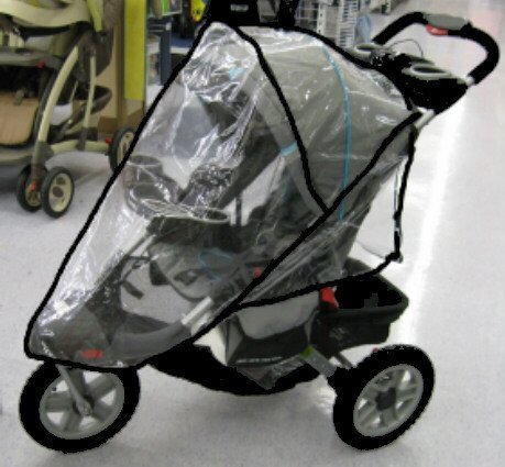 Sasha Kiddie JE01R Jeep Liberty Sport-Limited Single Stroller Rain and Wind Cover - Stroller Not Included ()