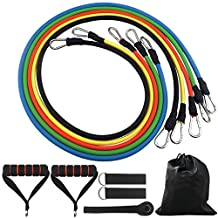 Resistance Band Set, with Door Anchor, Ankle Strap, Natural Latex Material for Fitness and Exercise(5 Colors)