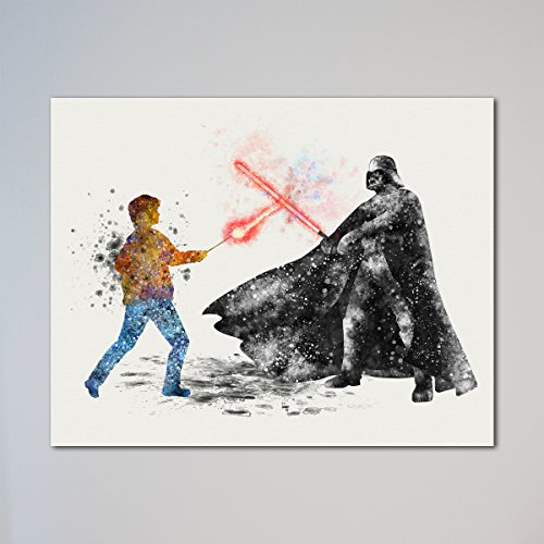 Star Wars Harry Potter vs Darth Vader Poster Art Print Geek Gift