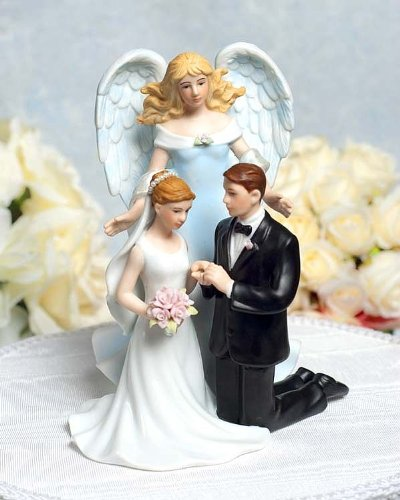 Wedding Collectibles Guardian Love Angel with Kneeling Wedding Couple by Wedding Collectibles