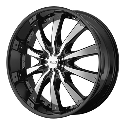 """Helo HE875 Gloss Black Wheel With Removable Chrome Accents (24x9.5""""/6x135, 139.7mm, +38mm offset)"""