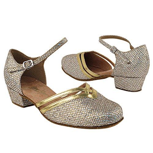 """Gold Taube Schuhe 50 Shades Of 1 """"Low Heel Tanz Kleid Schuhe: Frauen Komfort Ballsaal, Latin, Tango, Salsa, Schaukel, Praxis, Kunst von Party Party 8881 Gold Sparklenet (Sonderanfertigung, 4-6 Wochen Bearbeitungszeit)"""