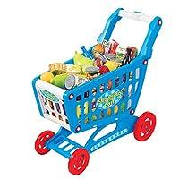 """Mini carrito de compras de 19 """"con juego completo de juguetes de alimentos para niños"""