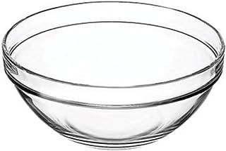 Vicrila 4 Liter Bake and Serve 10' x 4.5' Glass Bowl! Dishwasher Safe - Oven Safe - Microwave Safe - BPA FREE! Large Elegant 4 Liter Baking Glass Bowl! (1)