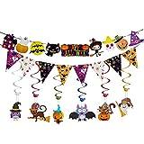 halloween decorations for kids Halloween Garland Banner Kit Swirl Ceiling Hanging Decoration Halloween Bunting Cute Decorations for Kids Classroom Indoor Decor 2018