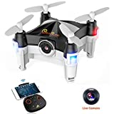 Beebeerun Mini Drone with Camera RC Quadcopter Small Drone for Kids Easy to Fly FPV Phone APP Wifi or Transmitter Remote Control Gravity Sensor Dance Mode Altitude Hold 360 Degree Flips Rolls